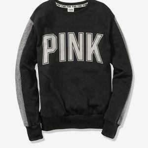 Victorias Secret PINK Campus Crew Sweatshirt Bling